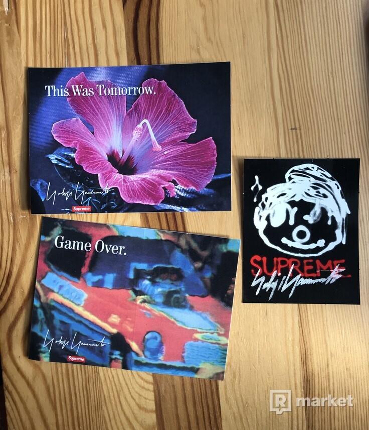 Game over tee Supreme Yohji  Yamamoto + nálepky