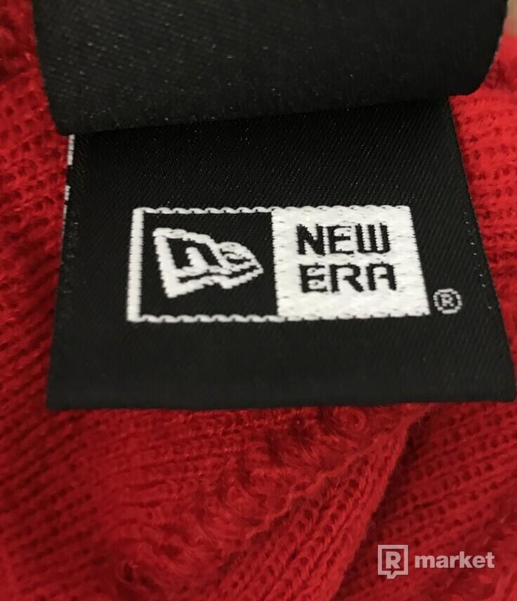 Supreme X New Era Box Logo Beanie Red