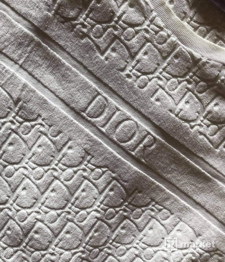 Dior oblique logo tee