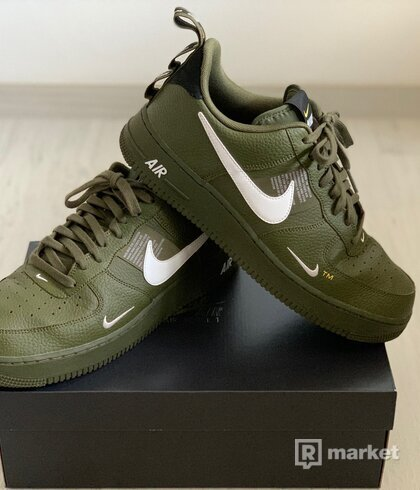 """Nike Air Force 1 LV8 Olive Green """"Overbranding"""""""