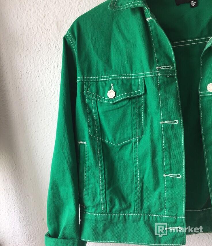Denim zelená bunda