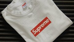 SUPREME BOX LOGO Tee long sleeve white