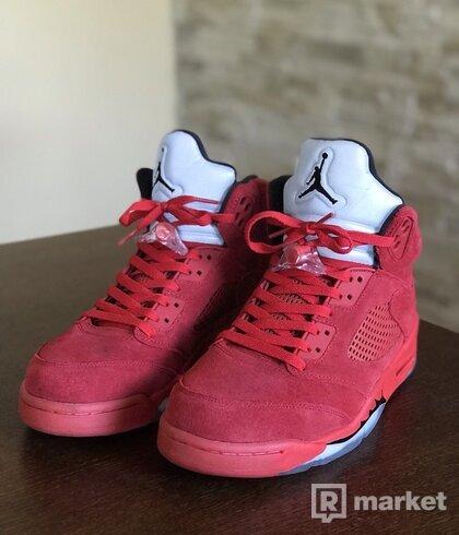 Jordan 5 Retro Red Suede