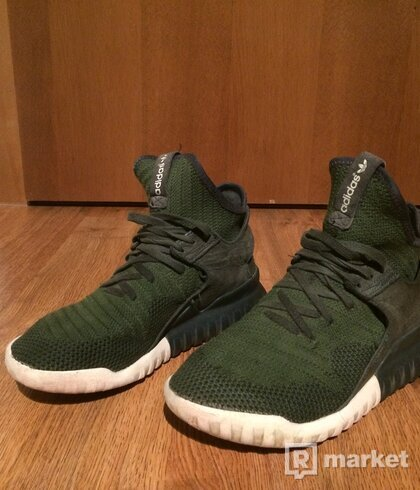Adidas tubular x primeknit shadow green