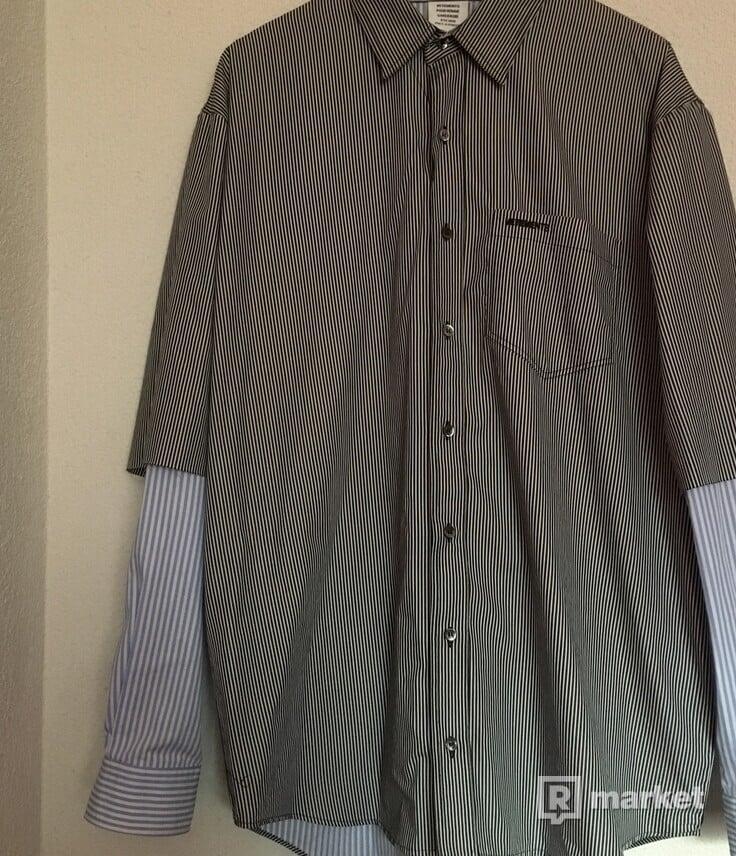 Vetements Multicolor Striped Fusion Shirt
