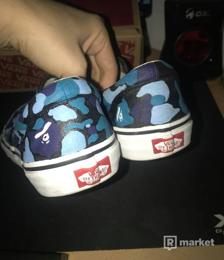 VANS SLIP-ON CUSTOM BAPE
