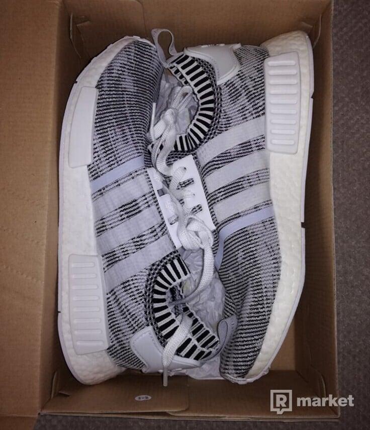 Adidas NMD_R1 PK White BY1911 , US 9 , UK 8 1/2