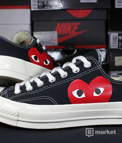 """Converse Chuck Taylor All-Star 70 x Comme Des Garcons """"Play"""" Black Low"""