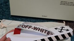OFF WHITE BLACK & WHITE SLIPPERS