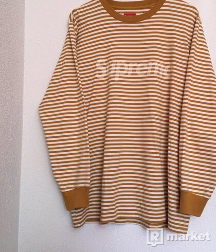 Supreme Box Logo Striped Long Sleeve