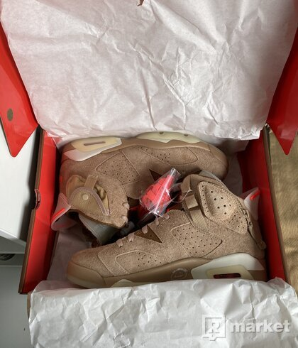 "Air Jordan 6 Travis Scott ""British Khaki"""