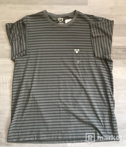 KAWS x Uniqlo Graphic Tee (Grey/Striped)