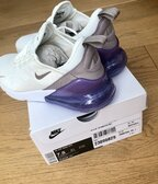 Nike Air Max 270 - Women; color: Sail-Pumice-Space Purple; US 7.5 - UK 5 - EUR 38.5 - CM 24.5