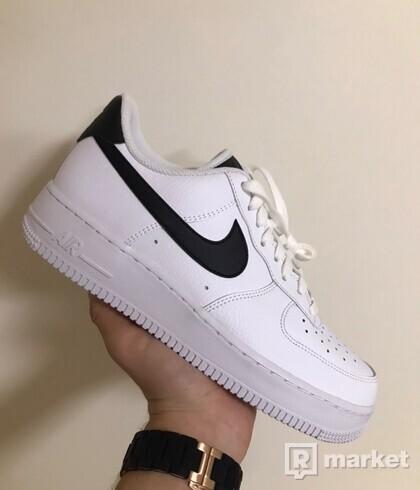 Nike air force 1 black swoosh