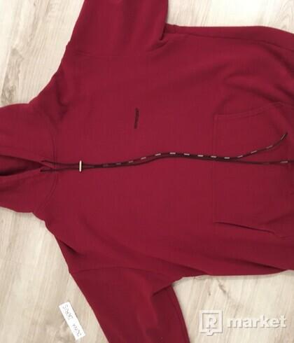 represent clo. burgundy hoodie M