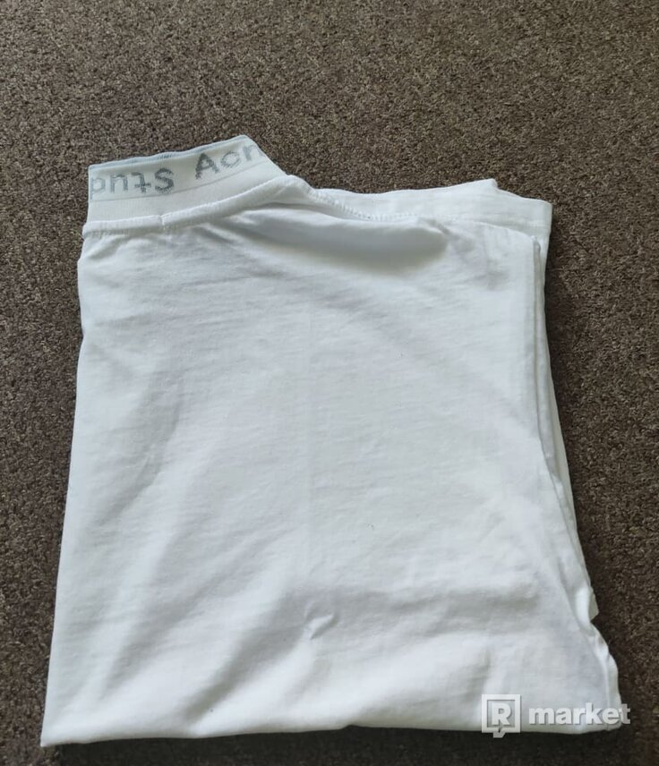Acne t-shirt tričko biele