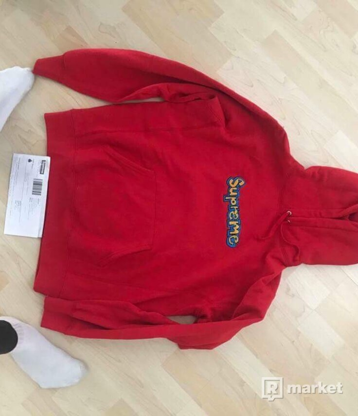 Supreme Gonz Logo Hooded Sweatshirt Red