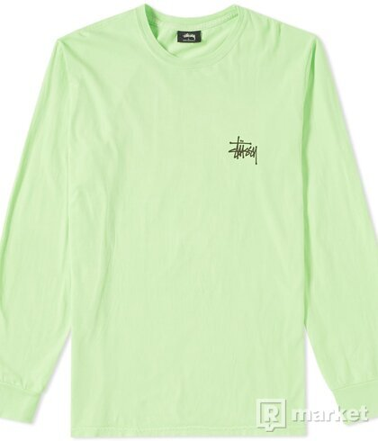 Stussy Long Sleeve Basic Pigment Dyed Tee