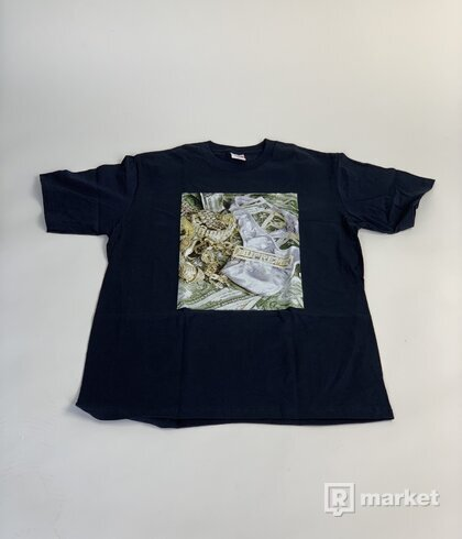Supreme Bling Tee Navy