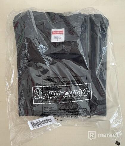 Supreme KAWS Chalk Logo Tee Black - L