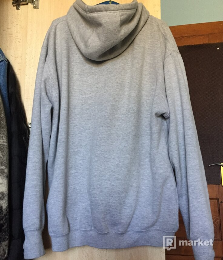 F*ck them winter hoodie grey