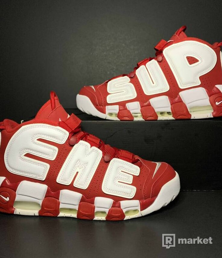 "Supreme x Air More Uptempo ""Red"""