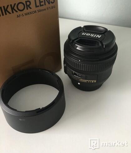 NIKKOR 50mm f/1,8G AF-S Objektív na Nikon