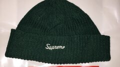 Supreme Loose Gauge Beanie Dark Green Ss16