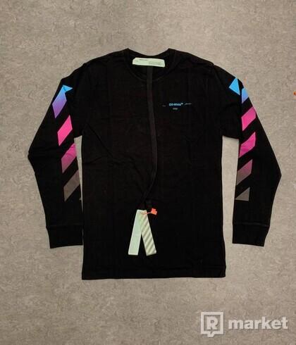Off-White Black Diagonal Gradient Long Sleeve T-Shirt