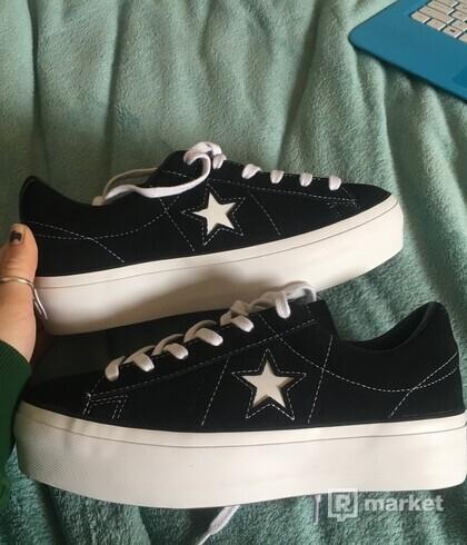Converse one star platform