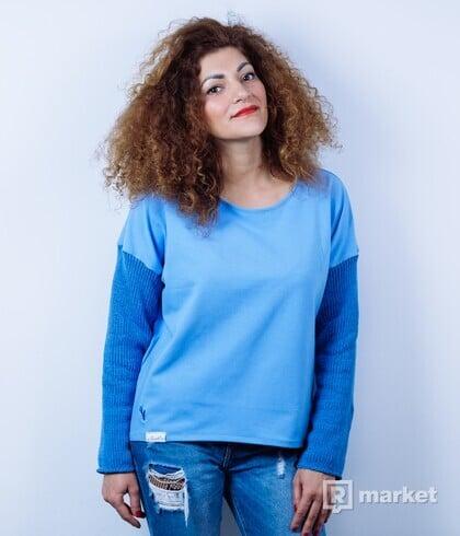 Svetlomodrá mikina - kolekcia BLUE WEDNESDAY