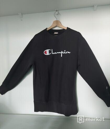 Mikina Champion Premium Reverse Weave Big Logo Crewneck (nbk)