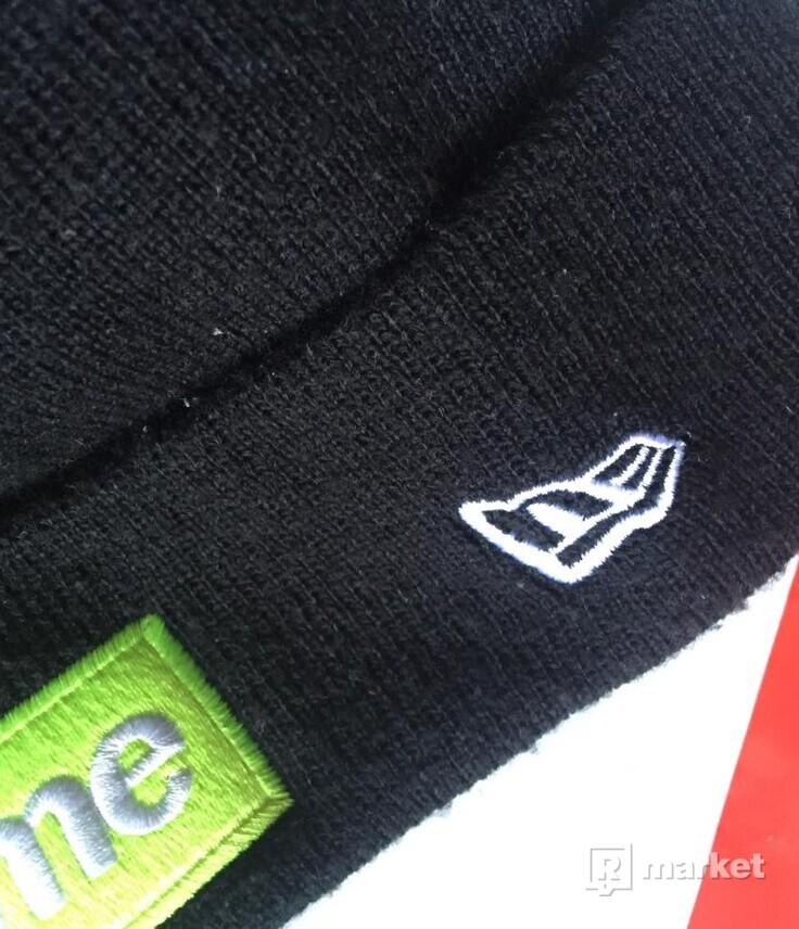 Supreme New Era Box Logo Beanie (FW17) Black, SUPREME