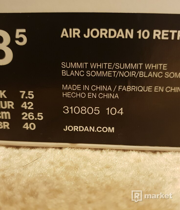 Air jordan 10 retro I'm back