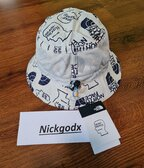 TNF x Brain Dead Bucket Hat Vintage White