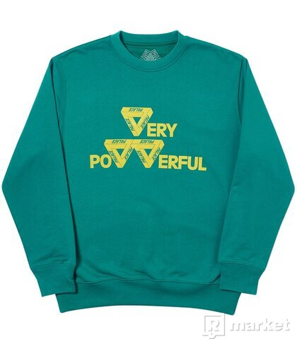 Palace power crewneck green