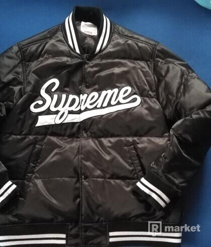 Supreme Script Varsity Puffer Jacket