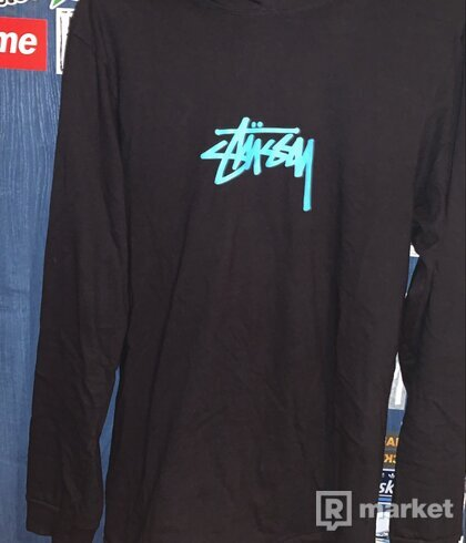 Stüssy Marker Stock Long Sleeve Hood Tee