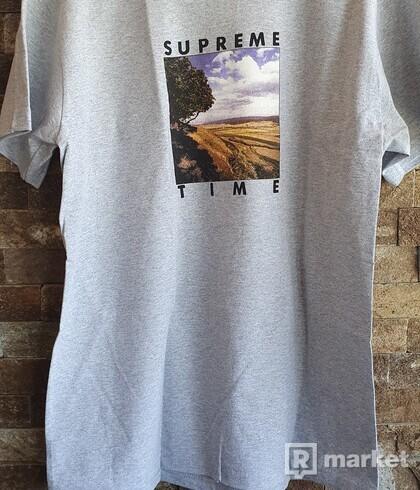 Supreme time tee gray