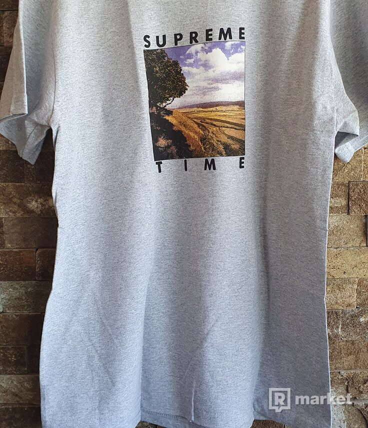 Supreme time tee gray