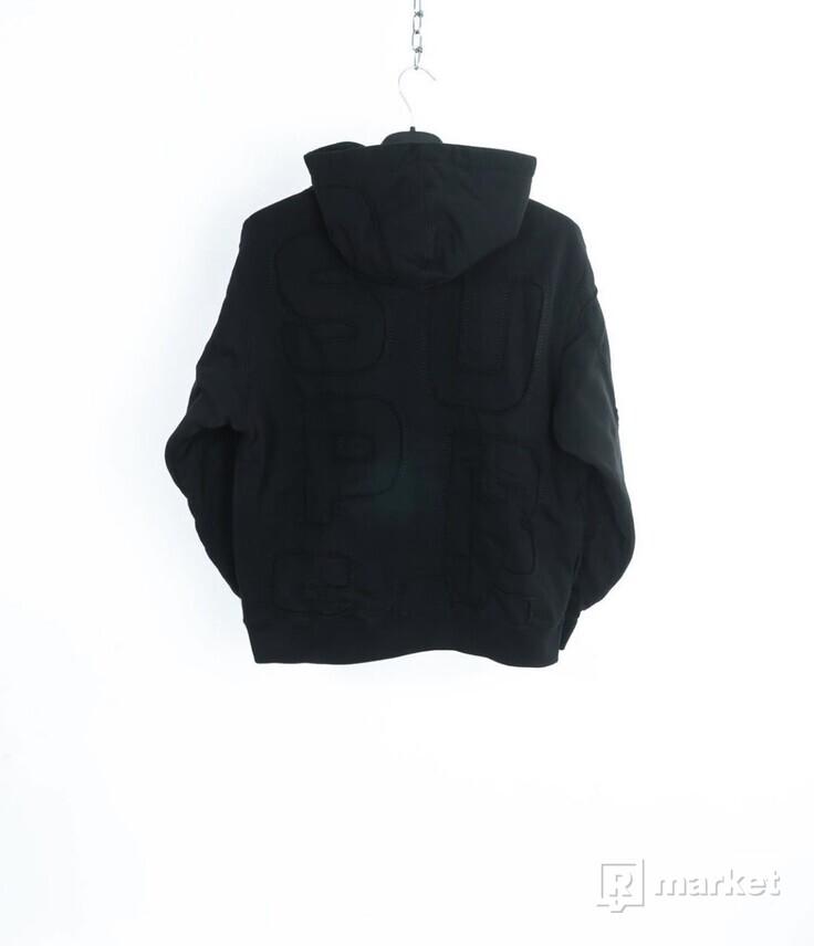 Cutout Letters Hooded Sweatshirt