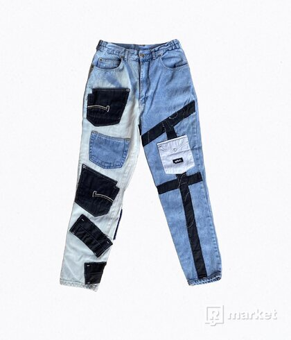 Twelve Pocket Bleached Jeans