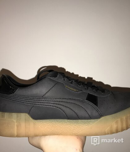 Puma Cali Black with Gum Sole