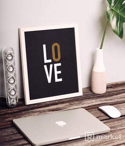Obraz - Love - white & gold