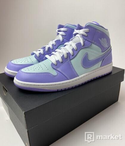 Jordan 1 Mid Purple Aqua - US 12