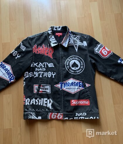 SUPREME X TRASHER WORK JACKET