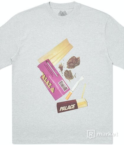 Palace Skin Up Monsieur T-Shirt Grey Marl