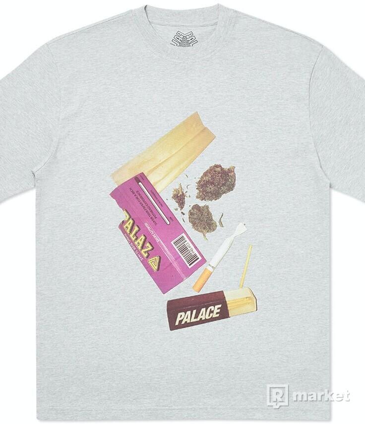 Palace Skin Up Monsieur T-Shirt Grey Marl