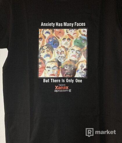 Anxiety Has Many Faces Tee - Black