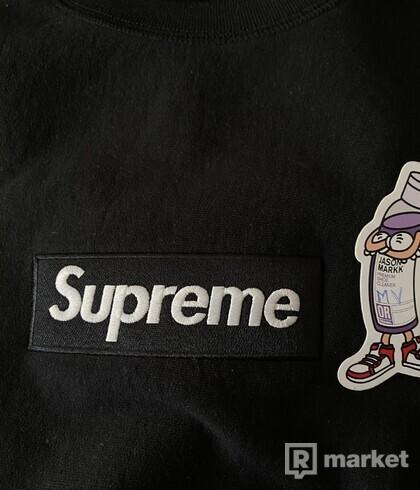 Supreme box logo crewneck fw18